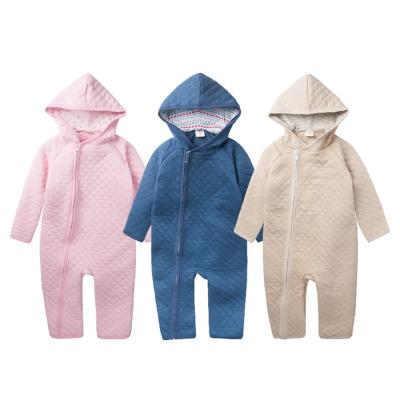 baby童衣 連身衣 連帽空氣棉前拉鏈爬服47026