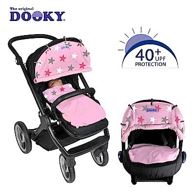 荷蘭dooky-抗UV萬用推車遮陽罩-粉紅星星