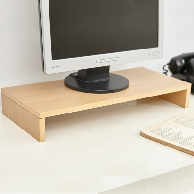 澄境 低甲醛環保E1板單層桌上螢幕置物架-DIY