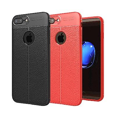 揚邑 iPhone 8/7 Plus 5.5吋 碳纖維皮革紋軟殼散熱防震抗摔手機...
