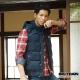 BIG TRAIN 法蘭絨格紋襯衫-男-紅藍 product thumbnail 1