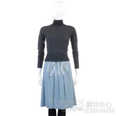 MOSCHINO 藍色拼接造型及膝裙