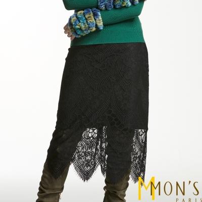 MONS-優雅鏤空蕾絲裙