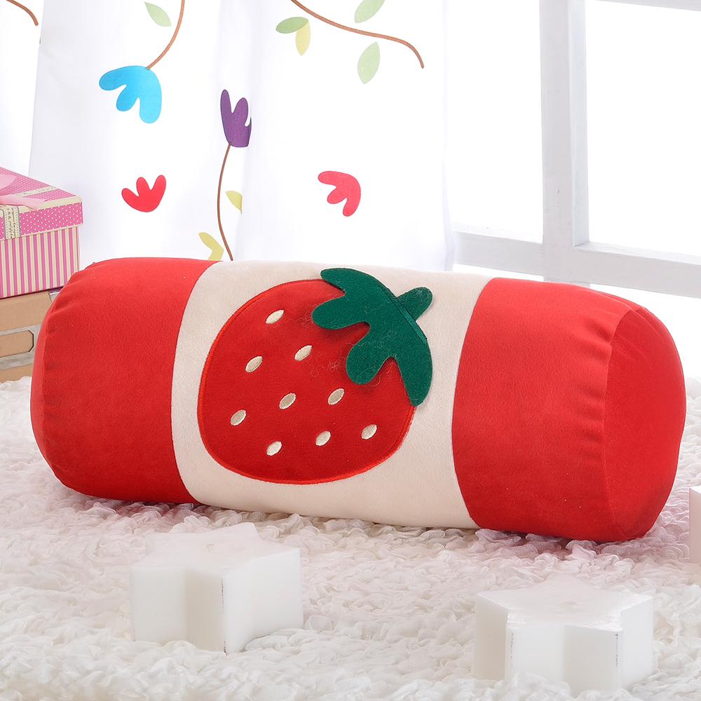 思美爾 可愛療育草莓圓棍枕