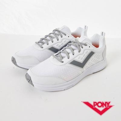 PONY 男_Power Run系列_Get active 動能機能慢跑鞋_白