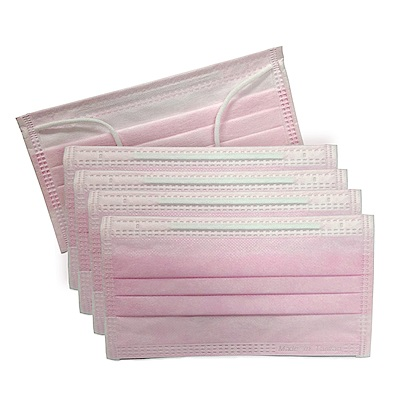 貝斯康 日安美醫用口罩 未滅菌(粉紅色) 一盒 共50入