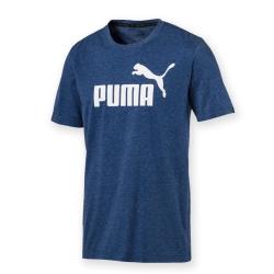 PUMA-男性基本系列No.1 Logo刷色短袖T恤-麻花沉深藍-亞規