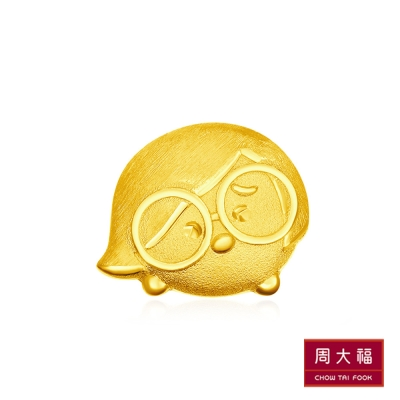周大福 TSUM TSUM系列 腦筋急轉彎-憂憂黃金耳環(單支)