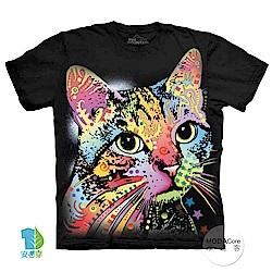 摩達客 美國進口The Mountain 彩繪卡通貓 純棉環保中性短袖T恤
