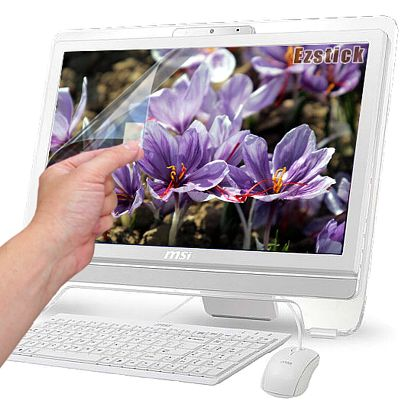EZstick 靜電式霧面螢幕貼(多點觸控專用滑順型)-MSI AE2081G 20吋專用