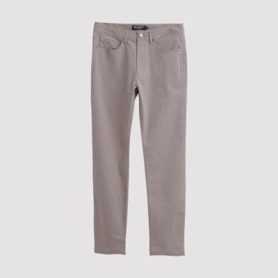 Hang Ten - 男裝 - 基本純色高彈長褲 - 灰褐