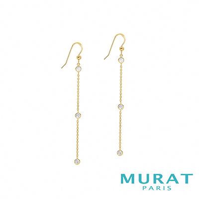 MURAT Paris米哈巴黎 點點閃耀細緻埀吊耳環(金色款)