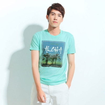 101原創 島嶼風格T恤上衣-馬卡綠