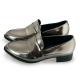 FUFA  MIT金屬感漆皮尖頭粗跟樂福鞋 (FB11) 錫色 product thumbnail 1