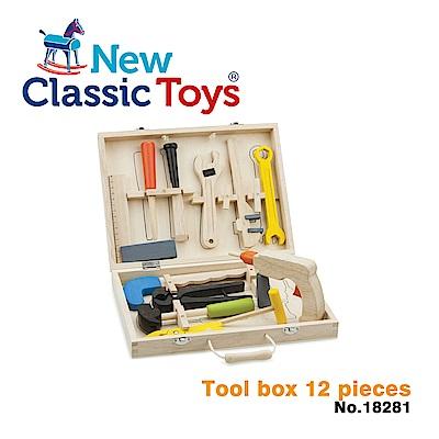 荷蘭New Classic Toys 天才小木匠工具箱玩具12件組 - 18281