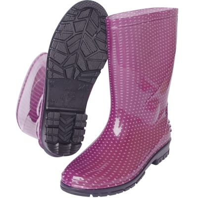 MIT一體成型減壓中筒雨鞋(紫豆)