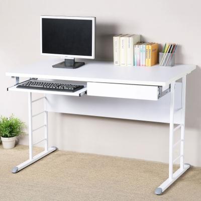 Homelike 馬克120x60辦公桌-加厚桌面(附抽屜.鍵盤架)