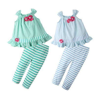baby童衣 點點小花吊帶背心配條紋褲套裝61049