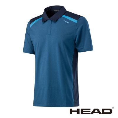 HEAD 吸濕排汗 男 POLO衫-海軍藍 811307