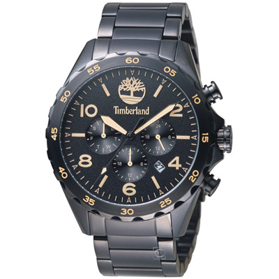 Timberland 酷炫黑潮時尚腕錶 -黑色/46mm