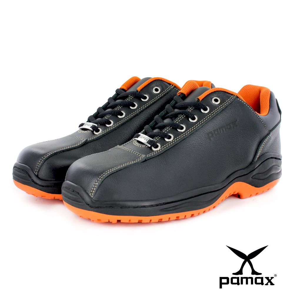 PAMAX帕瑪斯止滑安全鞋【超彈力氣墊、鋼頭工作鞋、休閒】餐飲廚師飯店廚房、男女