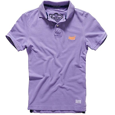 SUPERDRY 極度乾燥 男 polo 紫色 0712