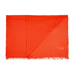 Alviero Martini 義大利地圖 素面水鑽LOGO絲巾-紅(70X200)