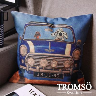 TROMSO-品味英倫棉麻抱枕/叢林MINI車