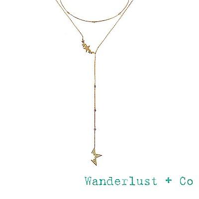 Wanderlust+Co 澳洲時尚品牌 閃耀不規則星星繞頸項鍊