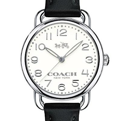 COACH 復古經典時尚黑皮帶女錶/14502247