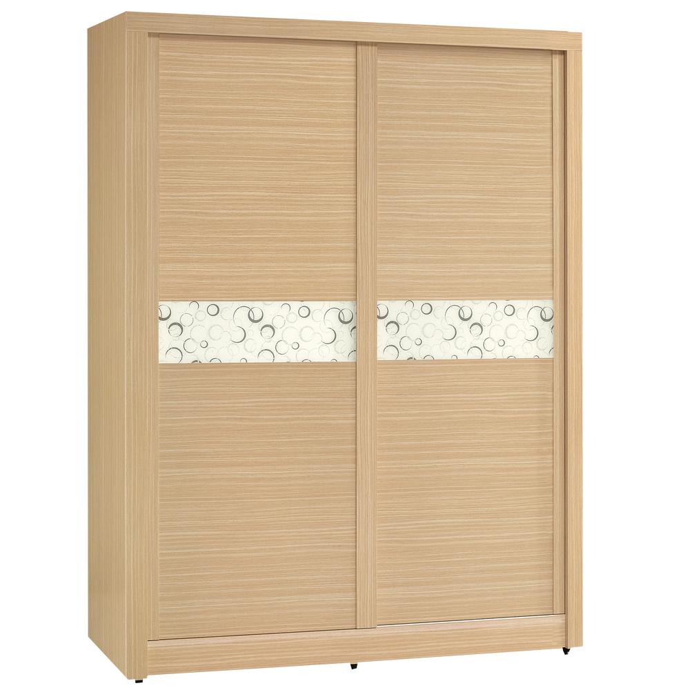 時尚屋 白橡色金圓滿5尺衣櫃