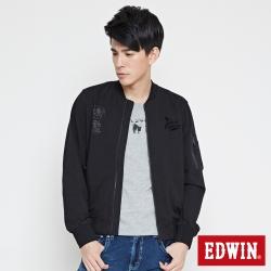 EDWIN MA1純棉飛行外套-男-黑色