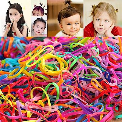 梨花HaNA  兒童子供用強拉不斷春天粉彩橡皮筋500條入附盒
