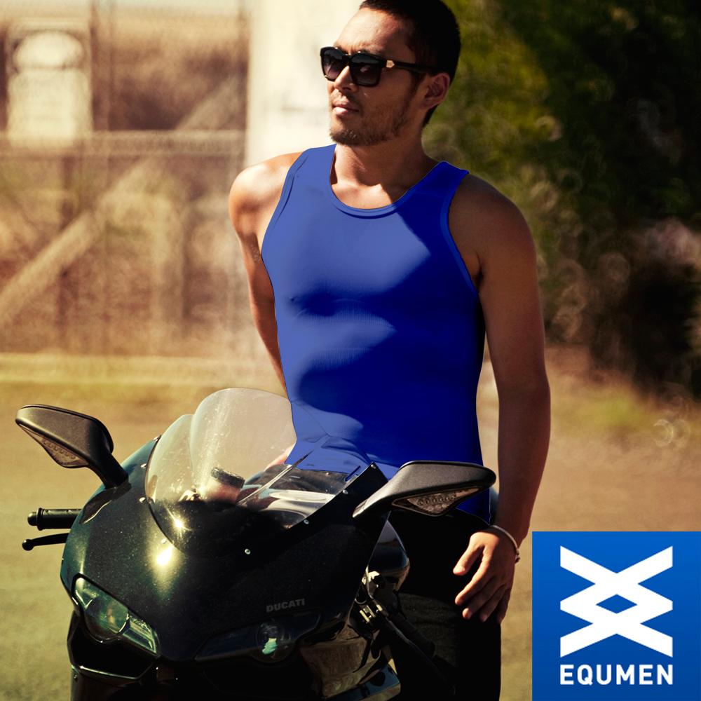 EQUMEN 精緻型男塑身衣-汗衫[藍]