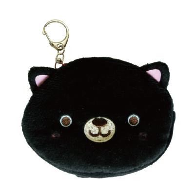 UNIQUE 動物樂園毛絨零錢包。小黑貓