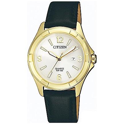 CITIZEN星辰 率性魅力石英女錶 (EU6082-01A)-白色/ 32mm