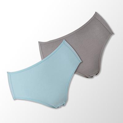 【蕾黛絲】伴你一生(竹纖維)棉褲二件包(高腰)M-EL 藍/膚
