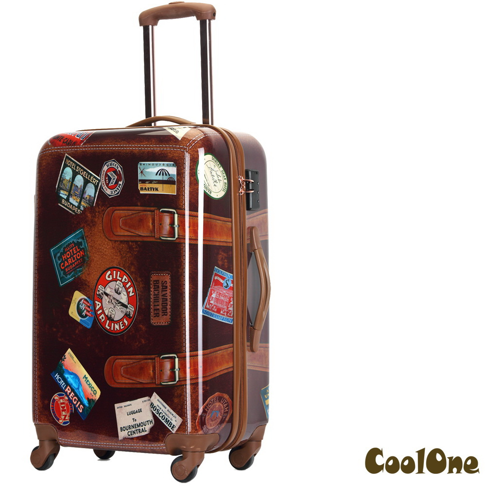 CoolOne仿復古牛皮PC 24吋行李箱
