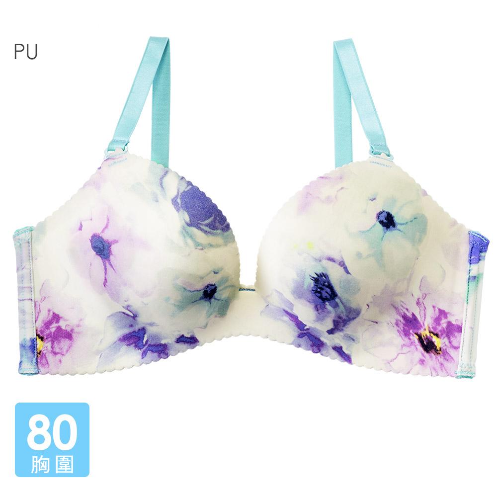 aimerfeel 粉彩花卉超盛內衣-紫色