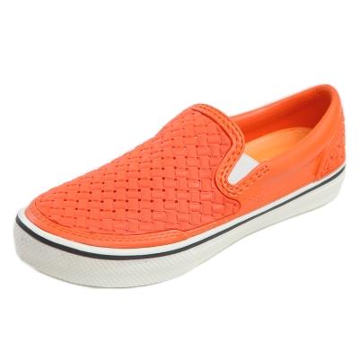 (男/女)Ponic&Co美國加州環保防水編織懶人鞋-橘色