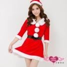 愛情花禮 聖誕舞會角色扮演服(紅F) AngelHoney天使霓裳