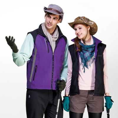 【SPAR】中性款雙面穿背心(SP6613A)紫/黑色