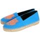 KENZO Tiger Espadrilles 霓虹老虎刺繡帆布草編便鞋(女/亮藍) product thumbnail 1