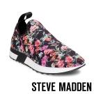 STEVE MADDEN-SPEED 彈性布料休閒鞋-花漾黑