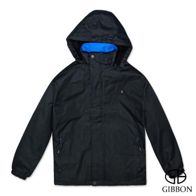 GIBBON 外套防風抗水刷毛休旅款‧黑色