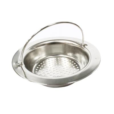 PUSH! 廚房用品 外徑110MM內徑70MM深度28MM 提籃式不鏽鋼流理台水槽濾網