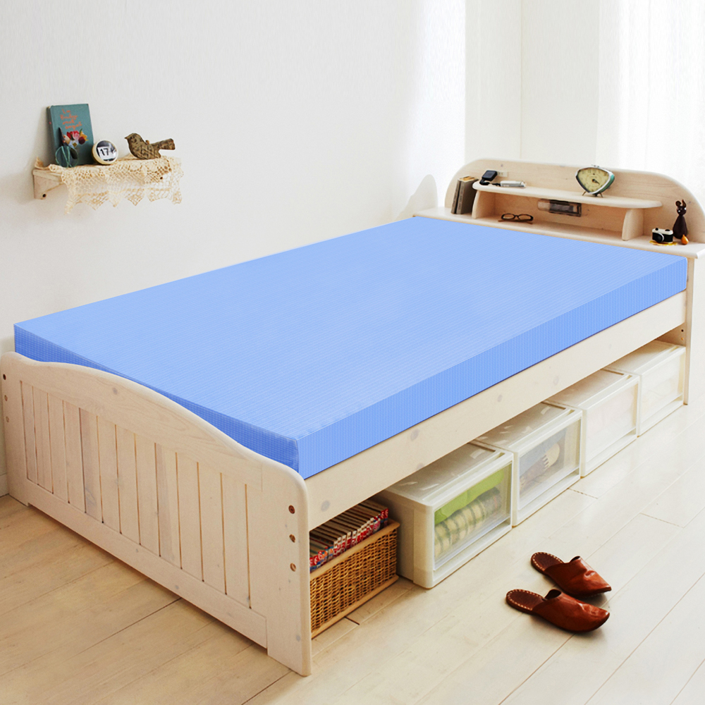 LooCa 吸濕排汗10cm舒壓平面記憶床墊-單人