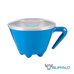 牛頭牌 不銹鋼雙層防燙杯碗(藍)