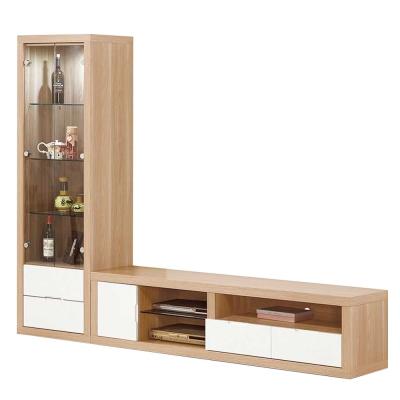 ROSA羅莎 艾琳8尺L櫃(2尺展示櫃+6尺電視櫃)