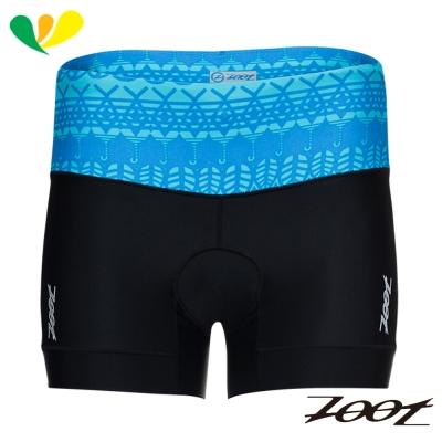 ZOOT 專業級肌能4吋鐵人褲(女)(圖紋藍) Z1706008